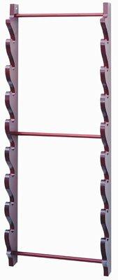 Eight Sword Wall Display Stand - Burgundy