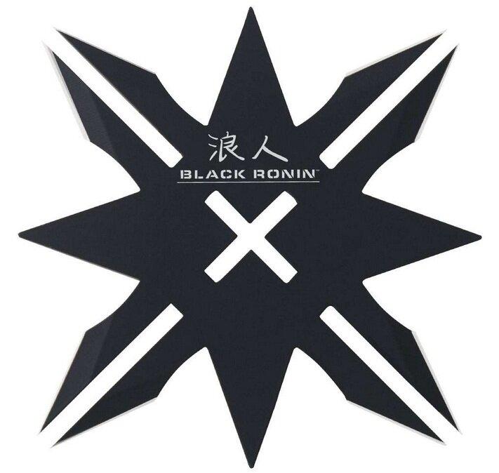 United Cutlery Black Ronin 12-Point Throwing Star & Sheath